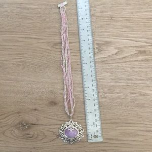 Lovely pink pendant and beaded necklace